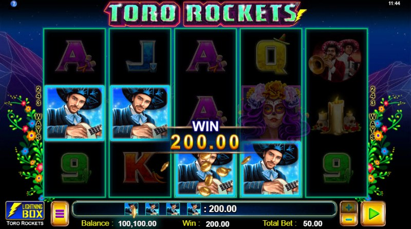 Toro Rockets :: A four of a kind Win