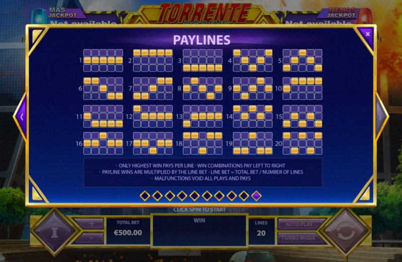 Torrente Again :: Paylines 1-20