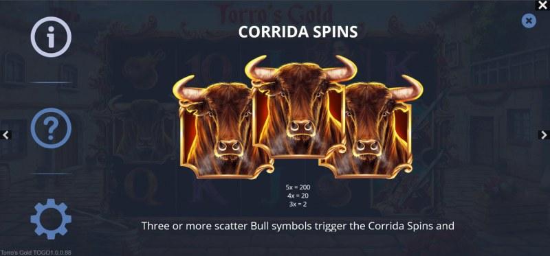 Torro's Gold :: Corrida Spins
