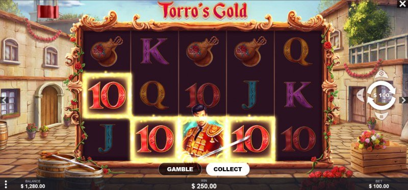 Torro's Gold :: A four of a kind win