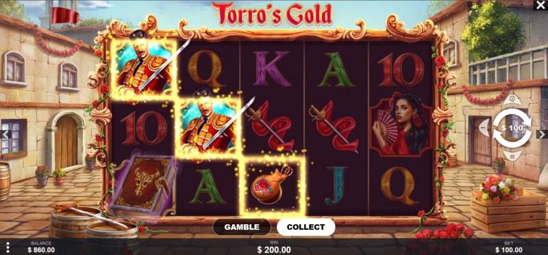 Torro's Gold :: A three of a kind win