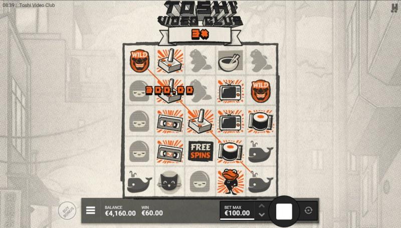 Toshi Video Club :: X3 Win Multiplier applied to winnings