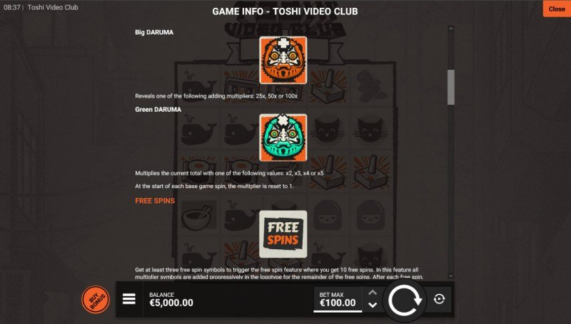 Toshi Video Club :: Feature Rules