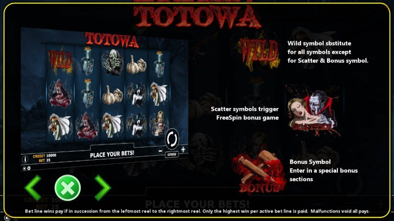 Totowa :: Wild and Scatter Rules