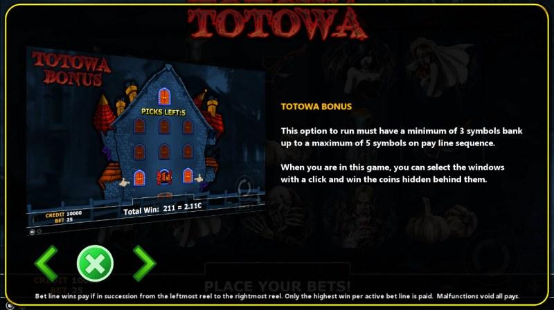 Totowa :: Bonus Game Rules