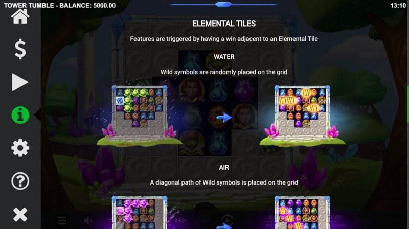 Tower Tumble :: Elemental Tiles