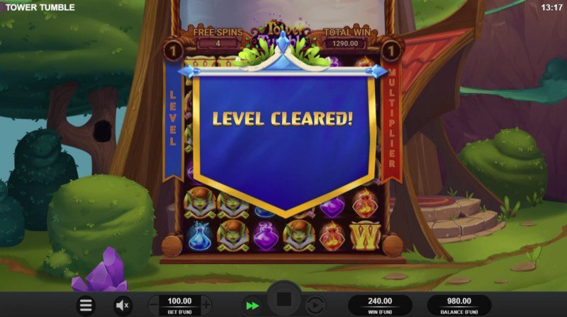 Tower Tumble :: Level Cleared