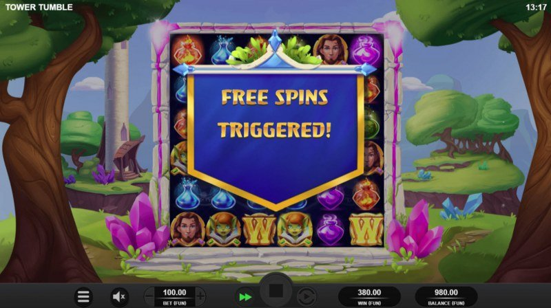 Tower Tumble :: Free Spins triggered