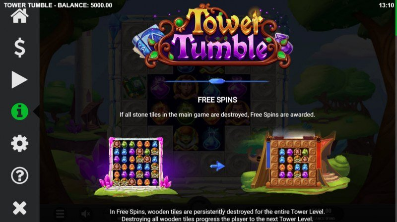 Tower Tumble :: Free Spins Rules