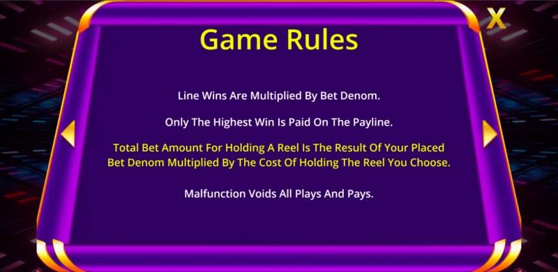 TPG 777 Slot :: General Game Rules