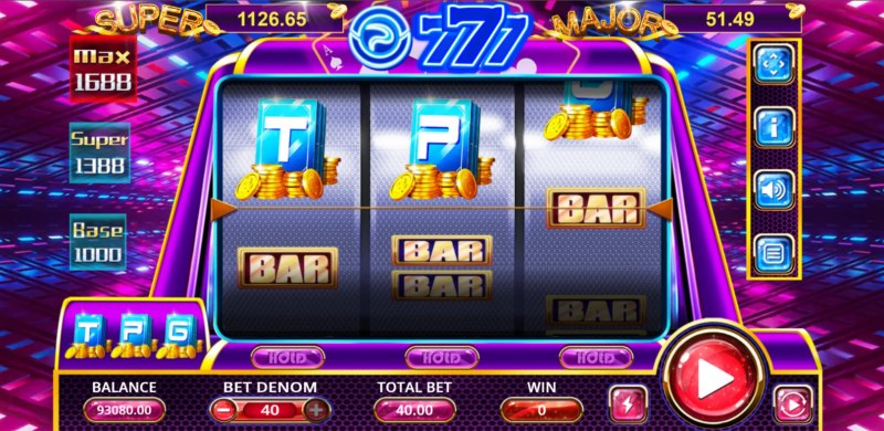 TPG 777 Slot :: Main Game Board