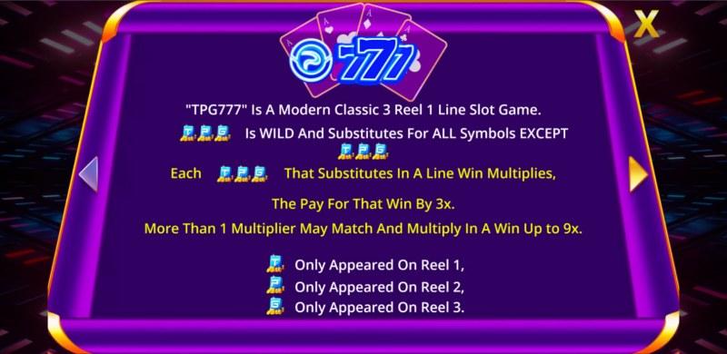 TPG 777 Slot :: Wild Symbol Rules