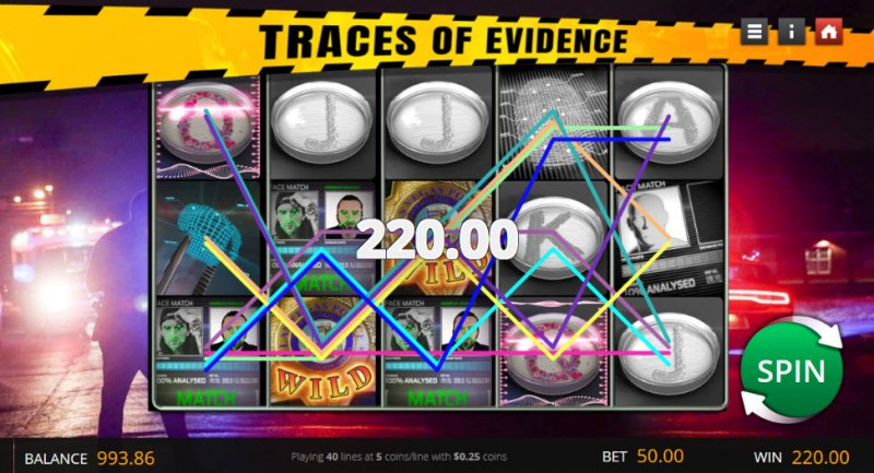 Traces of Evidence :: Multiple winning paylines