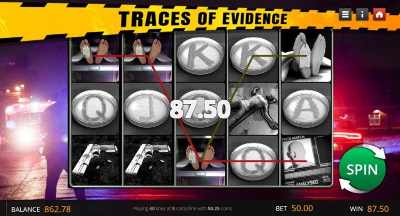 Traces of Evidence :: A three of a kind win