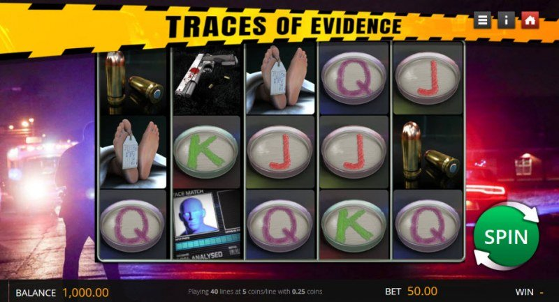 Traces of Evidence :: Main Game Board