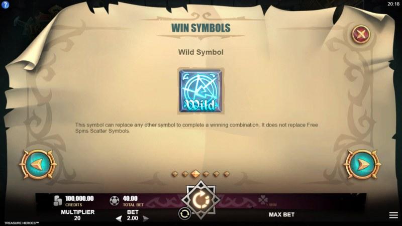 Treasure Heroes :: Wild Symbol Rules
