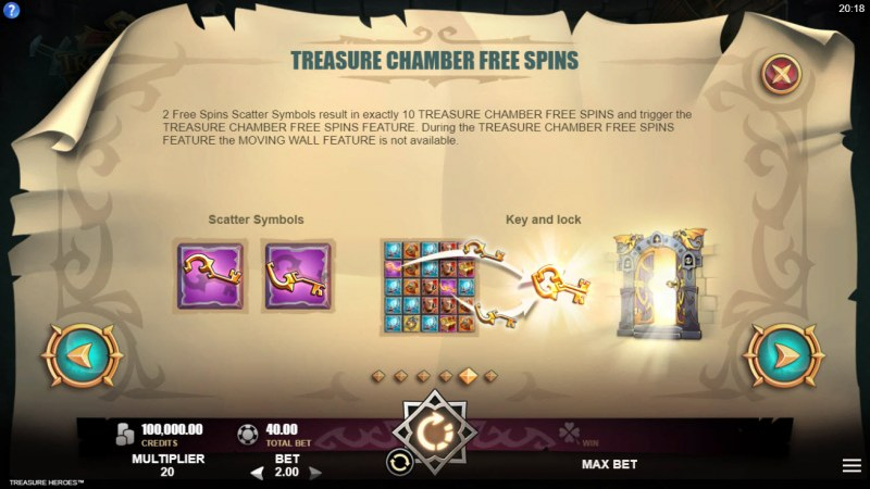 Treasure Heroes :: Free Spin Feature Rules