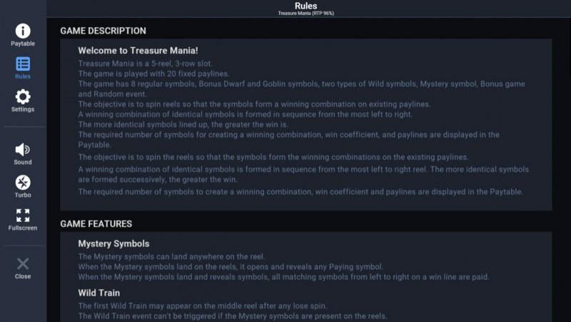 Treasure Mania :: General Game Rules