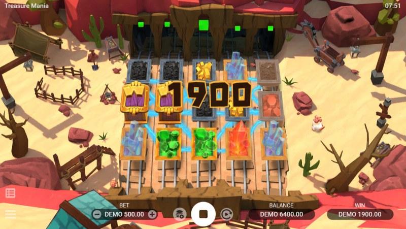 Treasure Mania :: Multiple winning combinations lead to a big win