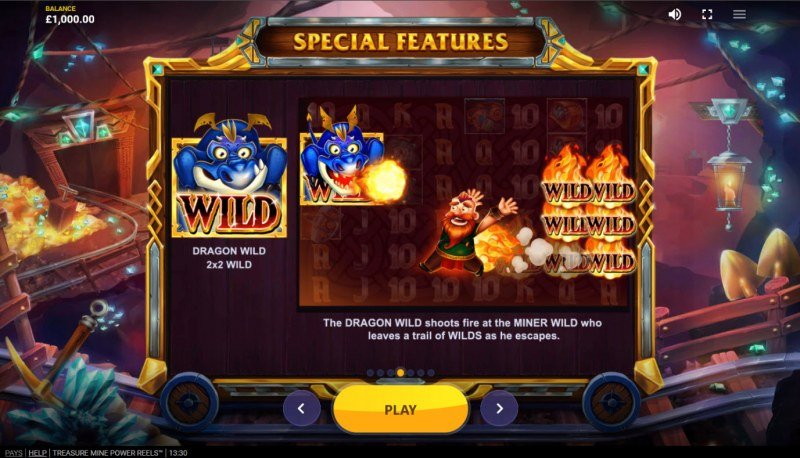 Treasure Mine Power Reels :: Wild Symbol Rules