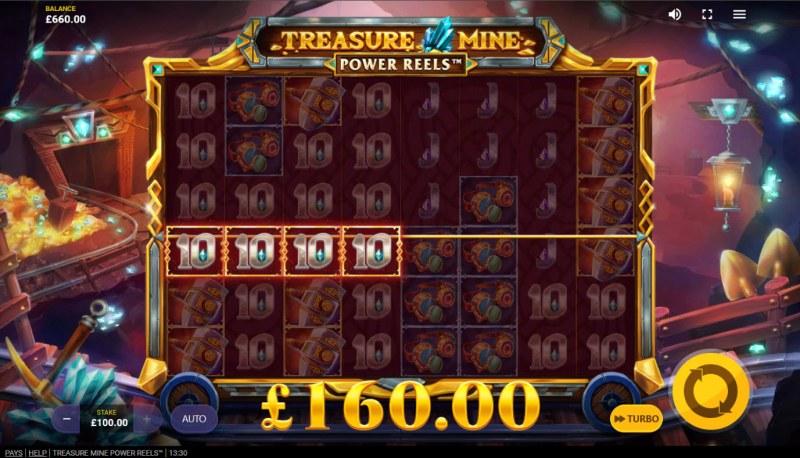 Treasure Mine Power Reels :: Multiple winning paylines