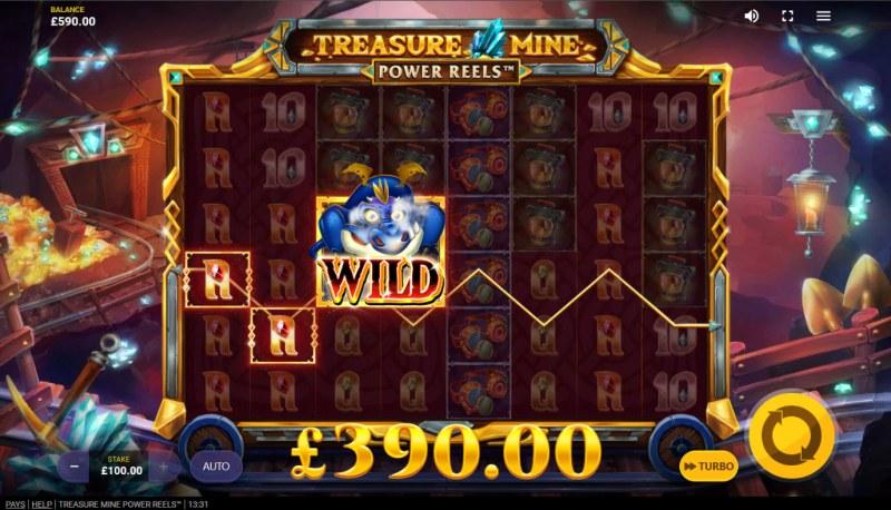 Treasure Mine Power Reels :: A three of a kind win