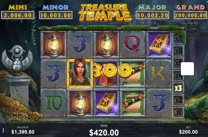 Treasure Temple :: Three of a kind