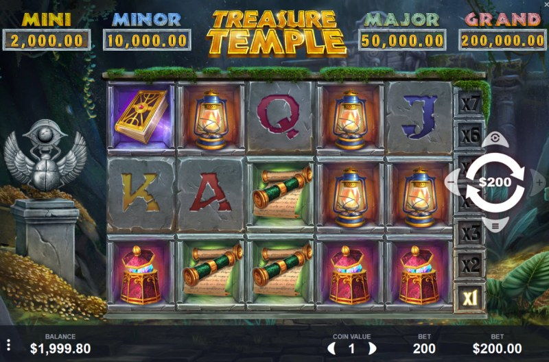 Treasure Temple :: Main Game Board
