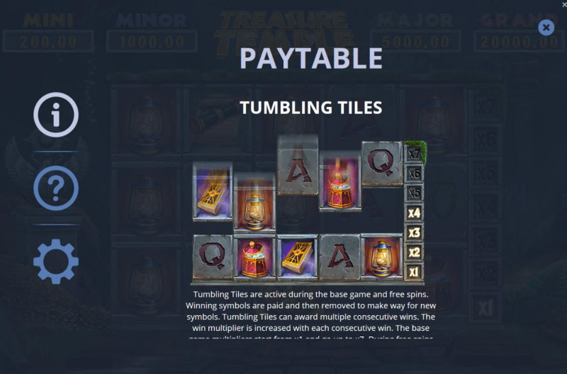 Treasure Temple :: Tumbling Tiles