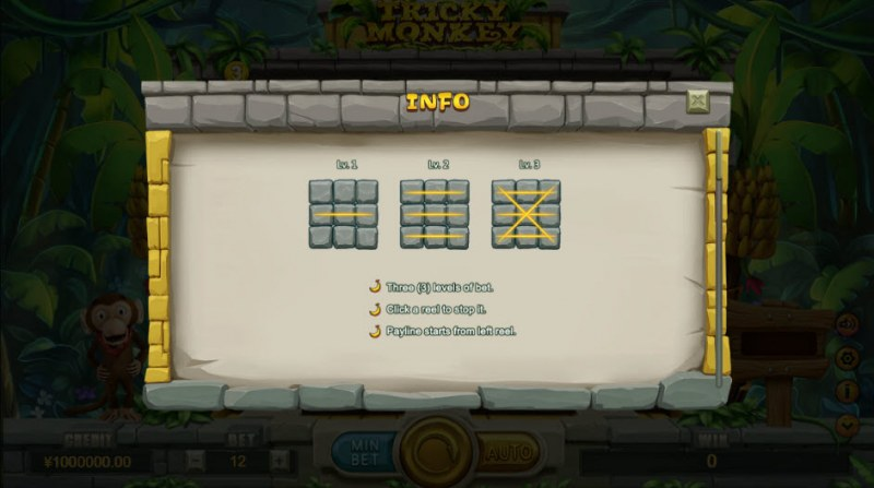 Tricky Monkey :: Three levels of bet