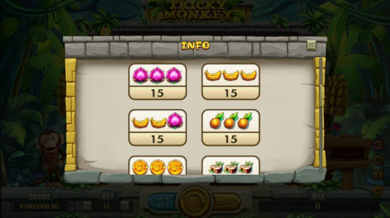 Tricky Monkey :: Paytable - High Value Symbols