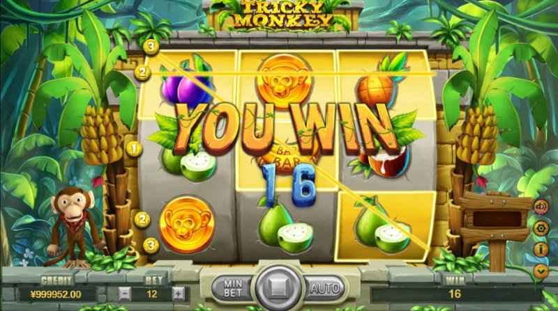 Tricky Monkey :: A pair of winning paylines