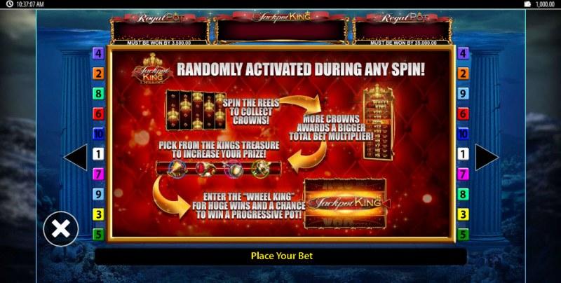 Tridentia Jackpot King :: Jackpot Rules