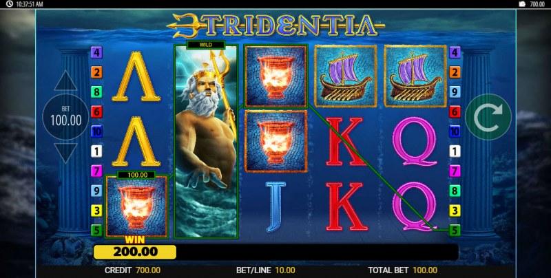 Tridentia Jackpot King :: Three of a kind win