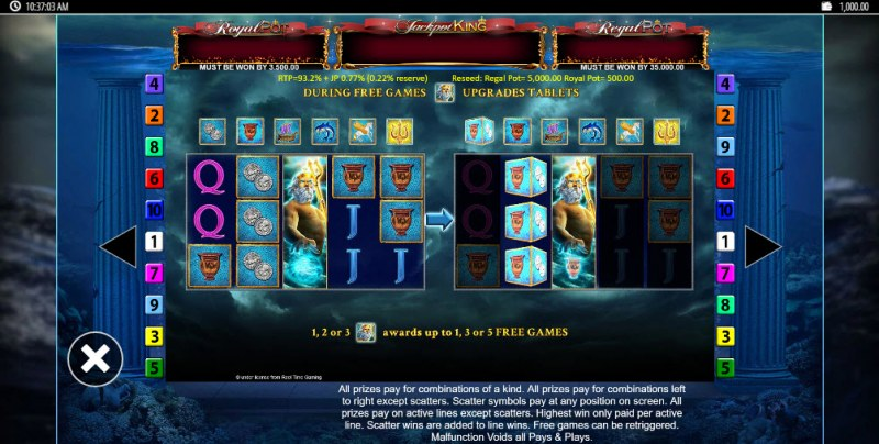 Tridentia Jackpot King :: Feature Rules