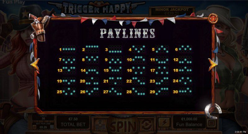 Trigger Happy :: Paylines 1-25