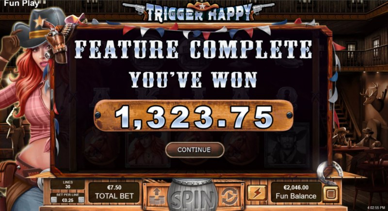 Trigger Happy :: Total Free Spins Payout