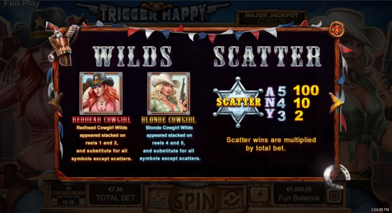 Trigger Happy :: Wild and Scatter Rules