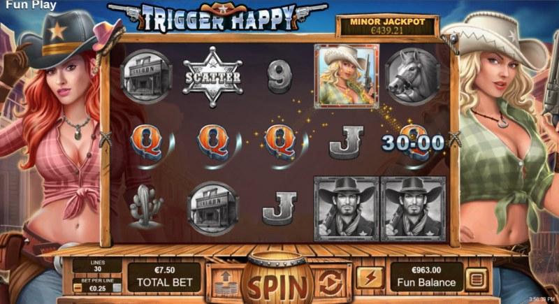 Trigger Happy :: A three of a kind win