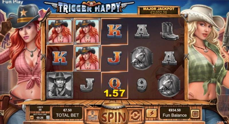 Trigger Happy :: Multiple winning paylines