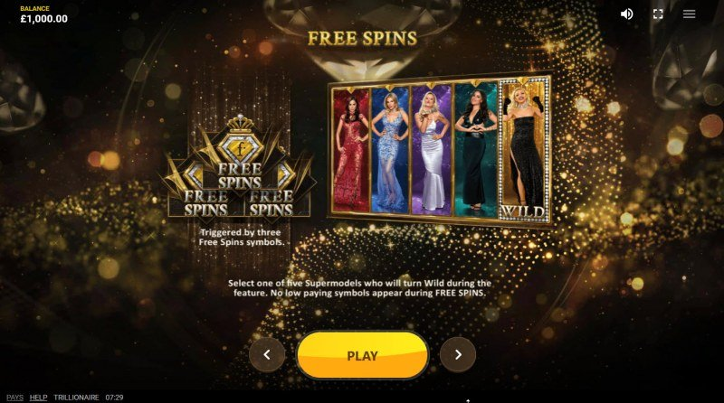 Trillionaire :: Free Spin Feature Rules