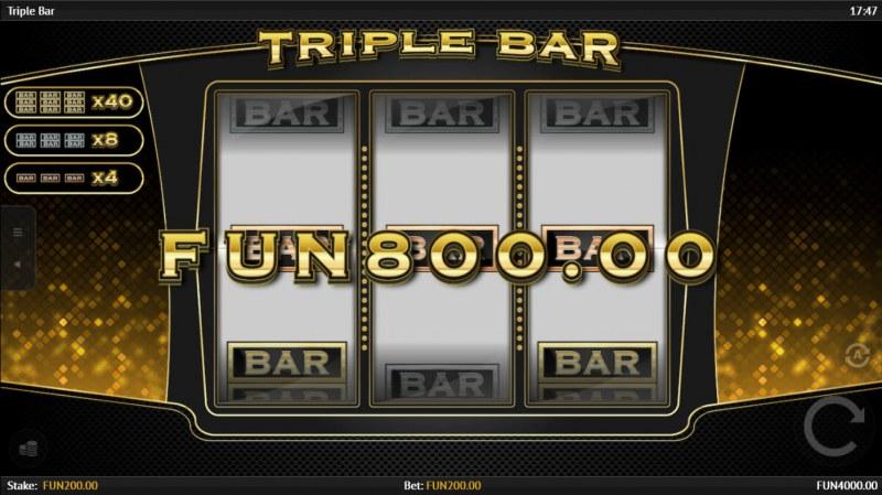 Triple Bar :: A three of a kind win