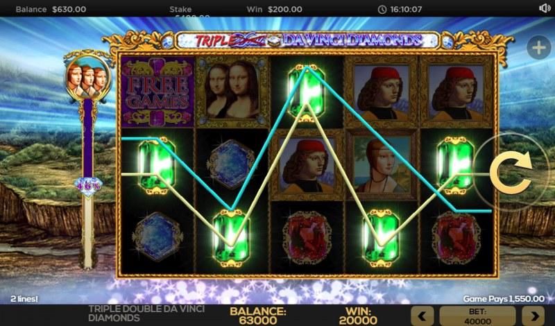 Triple Double Da Vinci Diamonds :: Five of a kind