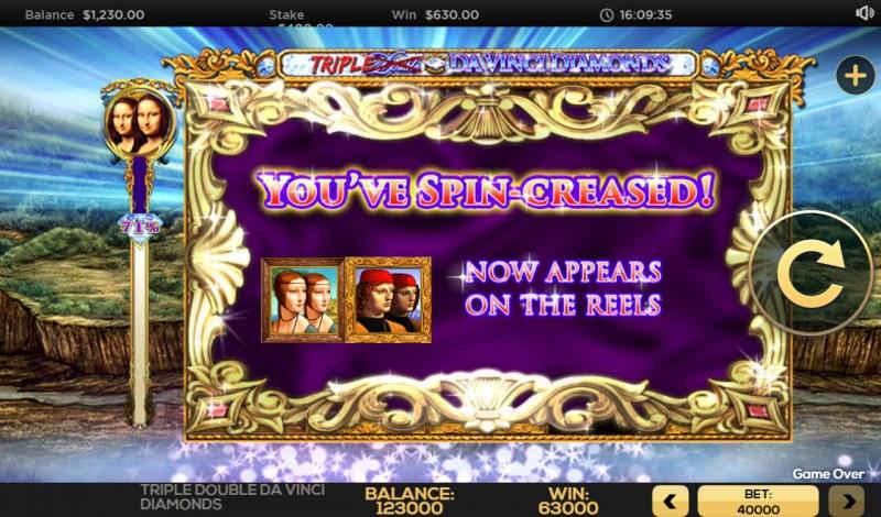 Triple Double Da Vinci Diamonds :: Feature Triggered