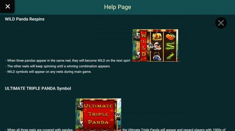 Triple Panda :: Feature Rules