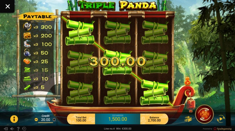 Triple Panda :: Multiple winning combinations leads to a big win