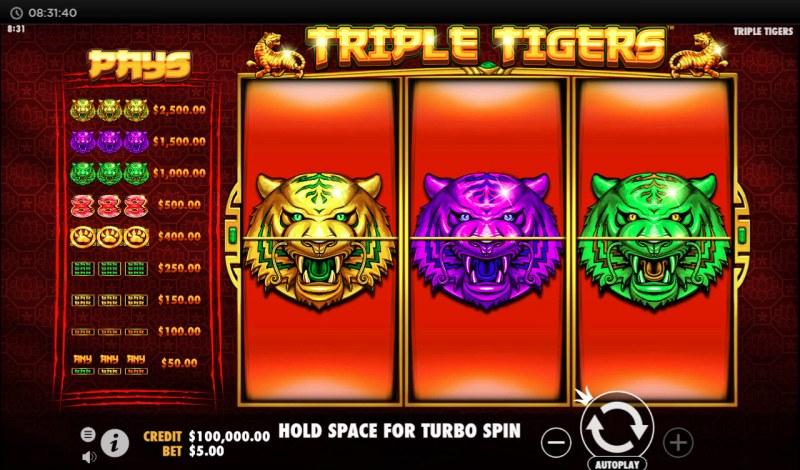 Triple Tigers :: Main Game Board