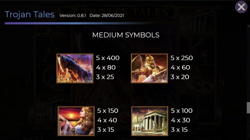 Trojan Tales :: Paytable - Medium Value Symbols