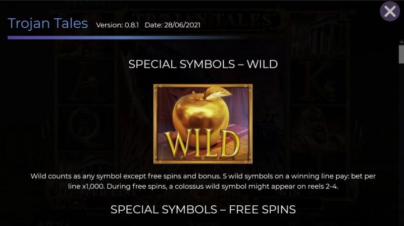 Trojan Tales :: Wild Symbol Rules
