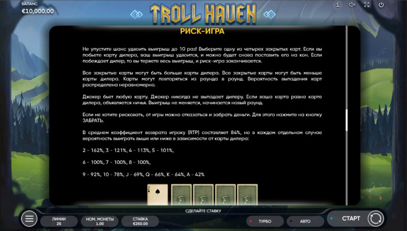 Troll Haven :: Gamble feature